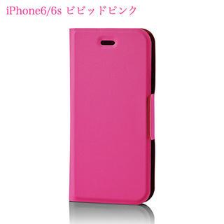 エレコム(ELECOM)のiPhone6/6s 超軽量 【ビビッドピンク】 手帳型ソフトレザーカバー(iPhoneケース)