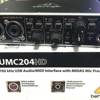 BEHRINGER UMC204HD(オーディオインターフェイス)