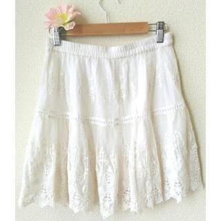 アナザーエディション(ANOTHER EDITION)の アナザーエディション スカート ミニ F 刺繍 可愛い インド製(ミニスカート)