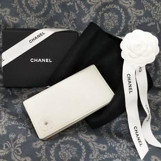 シャネル(CHANEL)の超美品  CHANEL カメリア 長財布(財布)