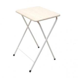 大人気☆折りたたみテーブル コンパクトテーブルハイ ナチュラル