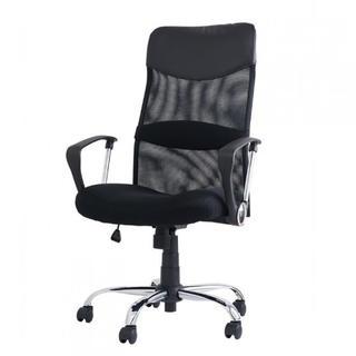 オフィスチェア メッシュ ロッキング20度 ブラック(デスクチェア)