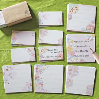 優しいピンクと可愛いお花♡ミニミニ&スクエアひとことカード 90枚(カード/レター/ラッピング)