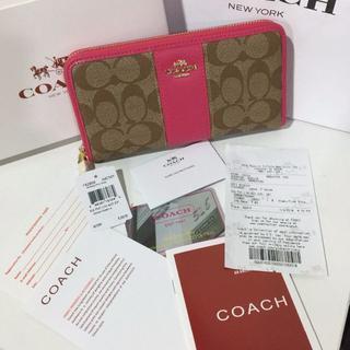 コーチ(COACH)の新品 Coach 52859 ピンク 長財布(財布)