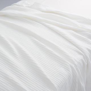 ムジルシリョウヒン(MUJI (無印良品))の無印良品 綿麻ピンタックガーゼケット・D/オフ白 180×200cm(毛布)