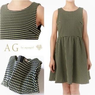 エージーバイアクアガール(AG by aquagirl)のAG by aquagirl*アクアガール【美品】チェックワッフルワンピース(ひざ丈ワンピース)