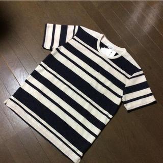 タケオキクチ(TAKEO KIKUCHI)の新品 THE SHOP TK ボーダー ポケ付きTシャツ L  G-12(Tシャツ/カットソー(半袖/袖なし))