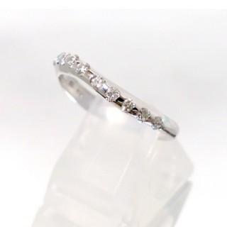 K18WG ウェーブダイヤリング 0.20ct 指輪 8号 新品仕上げ済(リング(指輪))