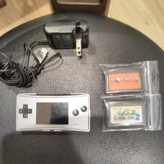 ゲームボーイ(ゲームボーイ)のゲームボーイミクロ カセット二本付き(携帯用ゲーム本体)