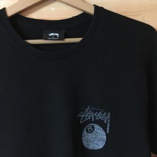ステューシー(STUSSY)の【 STUSSY 】8ボールステューシーTシャツ ブラック×ホワイト(Tシャツ/カットソー(半袖/袖なし))