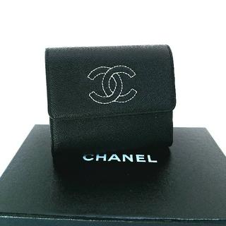 シャネル(CHANEL)の♦シャネル♦正規品♦キャビア/グレインドカーフスキン/三つ折り財布(財布)
