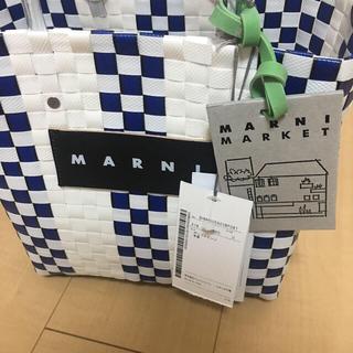 マルニ(Marni)のMARNI ピクニックバッグミニ(かごバッグ/ストローバッグ)
