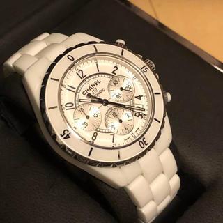 シャネル(CHANEL)のCHANEL J12 メンズ クロノグラフ 生産終了モデル(腕時計(アナログ))