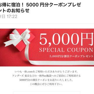 一休5000円クーポン(宿泊券)