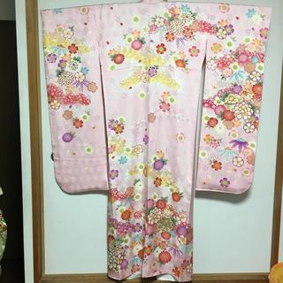 【キティー様専用 】愛らしいピンクの正絹振袖 2点セット(振袖)