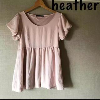 ヘザー(heather)の美品heatherペプラムブラウスヘザー(カットソー(半袖/袖なし))