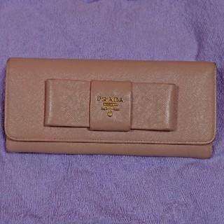 プラダ(PRADA)のPRADA ピンク 長財布 【まるこ様専用】(財布)