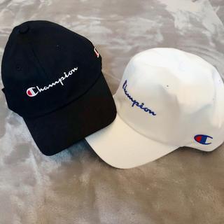 Champion - 【新品】チャンピオン キャップ メンズ レディース ブラック 黒 ロゴ入り