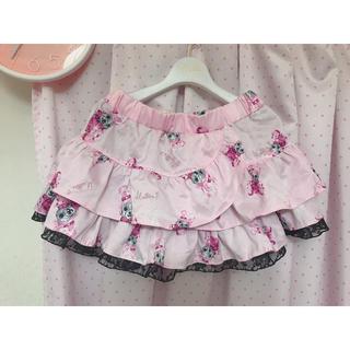 マーズ(MA*RS)のMARS♡マーズ♡うさミラちゃん♡ティアードフリルスカート♡ピンク(ミニスカート)