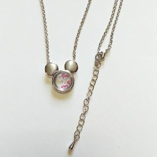 ディズニー(Disney)のミッキー  キラキララインストーン ネックレス(ネックレス)