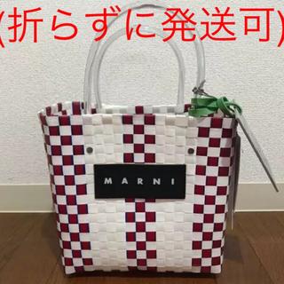 マルニ(Marni)のマルニフラワーカフェ バッグ(かごバッグ/ストローバッグ)