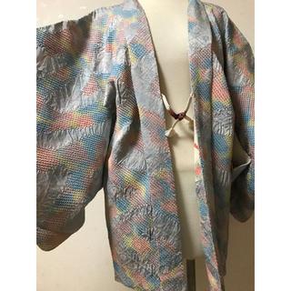 【KOUEI】中古 正絹 本疋田 総絞り 羽織(着物)