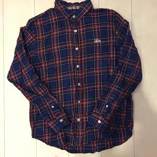 ステューシー(STUSSY)の値下げ交渉あり‼️定価2万 ステューシー ロゴ刺繍 チェックシャツ(Tシャツ/カットソー(半袖/袖なし))