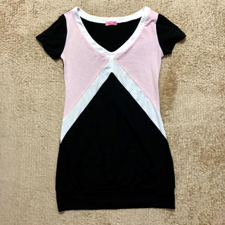 マーズ(MA*RS)のMA*RS☆幾何学柄Tシャツワンピ(Tシャツ(半袖/袖なし))