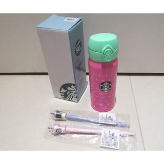 スターバックスコーヒー(Starbucks Coffee)のいちごっちさま専用🍓スタバ サーモスステンレスボトル+ボールペンセット(タンブラー)