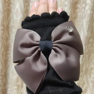 豪華なリボン付日よけアームカバー(手袋)