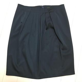 ビームス(BEAMS)のLAPIS LUCE BEAM タイトスカート ネイビー 38(ひざ丈スカート)