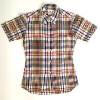 ジュンメン(JUNMEN)のJUN ヴィンテージ 半袖 チェックシャツ ジュンメン(シャツ)