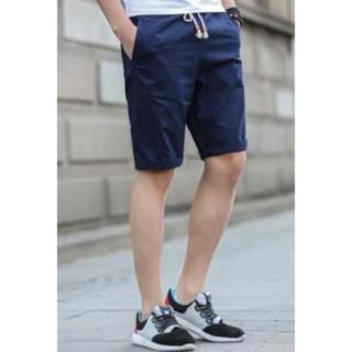 ネイビー ハーフパンツ ショートパンツ 紺色 ネイビー Mサイズ メンズ(ショートパンツ)