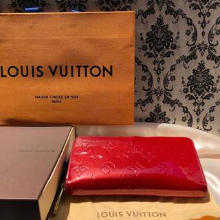 ルイヴィトン(LOUIS VUITTON)の【ルイヴィトン】ポムダムール 人気のレッド☆ヴェルニ 美品 正規品 (財布)