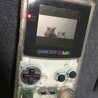 ゲームボーイ(ゲームボーイ)のGAMEBOY color カラー ゲームボーイ クリア(携帯用ゲーム本体)
