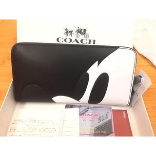 COACH - COACH 長財布 アウトレット商品 ミッキー 横顔