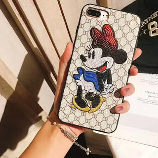 Disney - iPhone 7plus •8plus ケース  ミニーちゃん  刺繍  新品