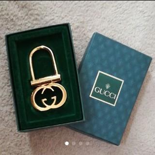 グッチ(Gucci)の未使用♪GUCCI ゴールドキーホルダー ユニセックス 本物 オールドグッチ(キーホルダー)