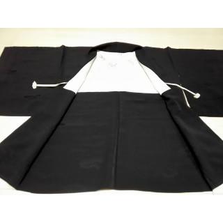 黒無地 羽織 一つ紋 KK47(着物)