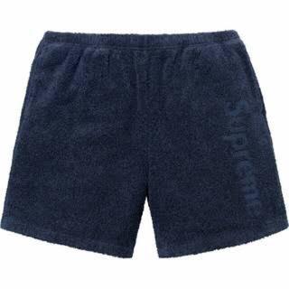 シュプリーム(Supreme)のSupreme Terry Logo pants navy M(ショートパンツ)