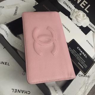 シャネル(CHANEL)の大人可愛い♡CHANEL長財布✨大判CCマーク✨キャビアスキン✨ベビーピンク💕(財布)