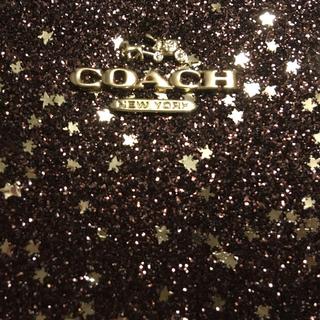 コーチ(COACH)の【新品中古】COACH★スモール リストレット★グリッター金/ブロンズ(ポーチ)