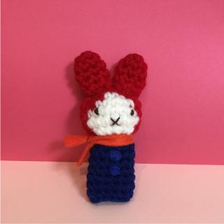 雪の日のうさこちゃん 風指人形 編みぐるみ ミッフィー   ハンドメイド  (おもちゃ/雑貨)