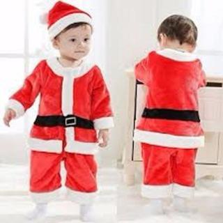 子供用 サンタ サンタクロース ベビー ロンパース 着ぐるみ 2点セット(その他)