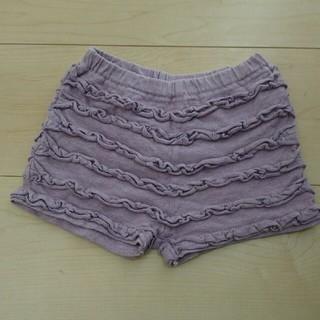 ミルデベリー 紫 ショートパンツ オーバーパンツ 80(パンツ)