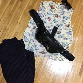 アトモスフィア(ATMOSPHERE)のイギリスブランド atmosphere シースルー総柄トップス(Tシャツ(半袖/袖なし))