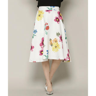 アンドクチュール(And Couture)のAnd Couture MIXフラワープリントフレアスカート アンドクチュール(ひざ丈スカート)
