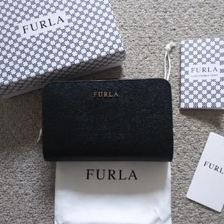 美品 正規品 フルラ FURLA 2つ折り財布 バビロン ラウンド ファスナー