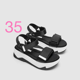 Zara ウェッジソール サンダル  スニーカー 35 新品