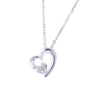 ジュエリーツツミ(JEWELRY TSUTSUMI)のK10ホワイトゴールドダイヤモンドネックレス(ネックレス)